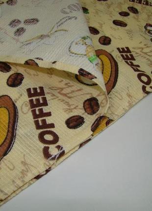 Кухонное вафельное полотенце coffe код 0151