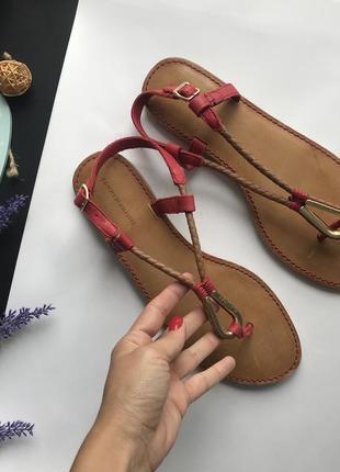 Оригинальные кожаные сандали tommy hilfiger / босоножки на низком ходу