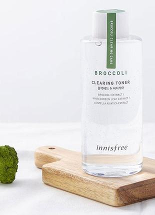 Очищающий тонер с экстрактом брокколи innisfree broccoli clearing toner