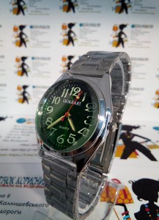 Мужские наручные часы goldlis на браслете,светящиеся стрелки
