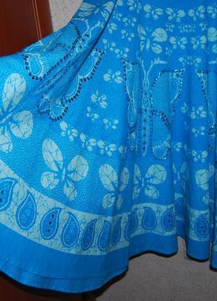 Шикарная натуральная брендовая юбка клеш