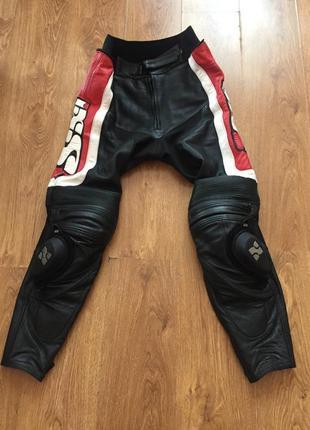Кожаные мото штаны для профи ixs of switzerland 52 размер