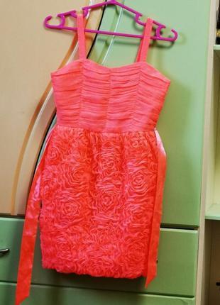 Супер нарядное яркое платье