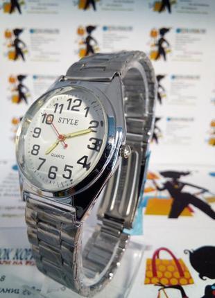 Мужские наручные часы style на браслете светящиеся стрелки