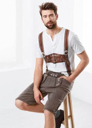 Стильные мужские шорты для октоберфест р.l  от тсм tchibo, цвет серый1 фото