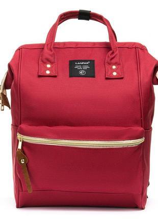 Красная сумка рюкзак для мамы органайзер текстильный большой
