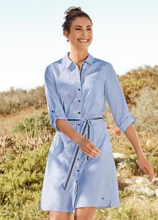 Обалденное полосатое платье, 100% био-хлопок, tchibo