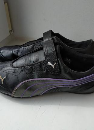 Кожаные мокасины спортивные туфли puma 40р. 26.5 см.