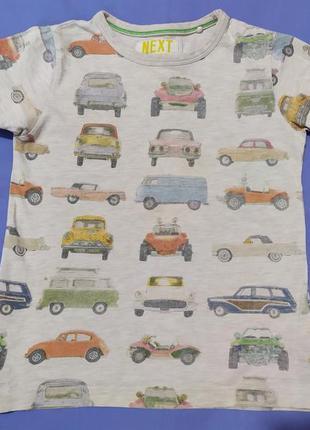 Фирменная футболка с автомобилями 3-5 лет