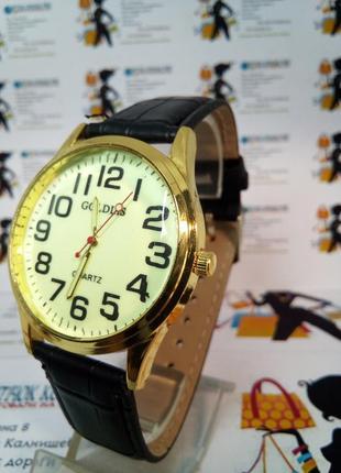 Мужские наручные часы goldlis на ремешке светящийся циферблат
