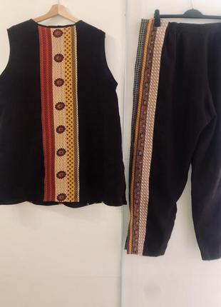 Супер стильный костюм из льна и натуральный шёлк