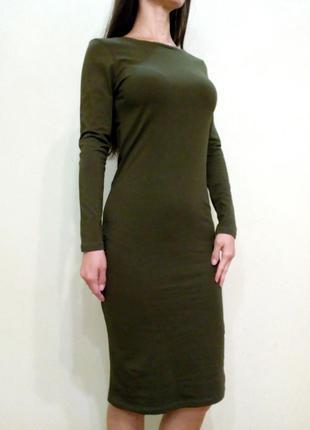 Трикотажное платье в обтяжку 12-14