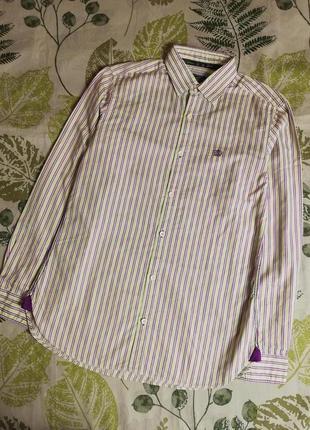 Фирменная крутая рубашка в полоску salt & zeman