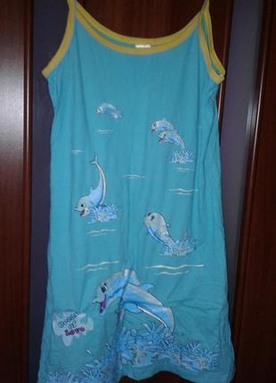 Хлопковая ночная сорочка ночнушка . размер 50/52 укр. xl
