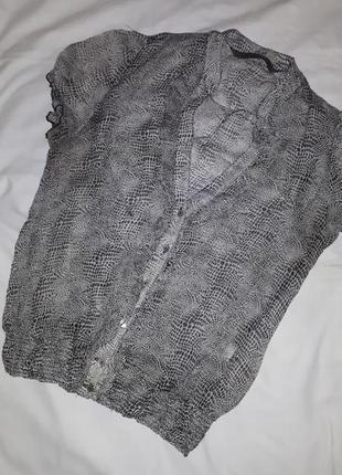 Блузочка горох легкая р. s/m