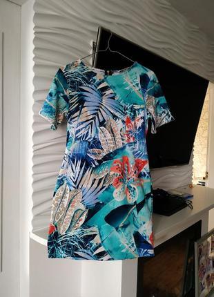 Летнее платье сарафан voulez vous в тропический принт