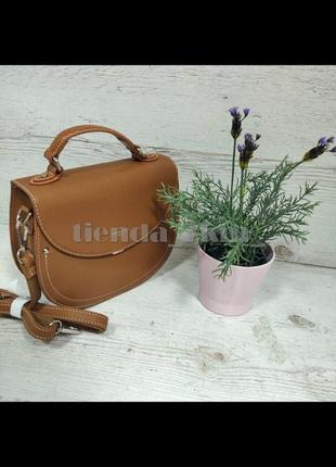 Округлая сумка через плечо / клатч david jones 6135-2 рыжий