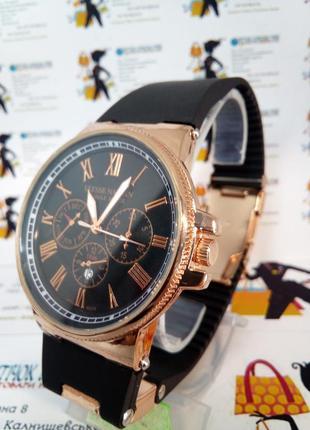 Мужские наручные часы ulysse nardin с датой на силиконовом ремешке