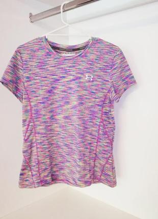 Under armour яркая цветастая спортивная футболка