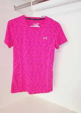 Under armour яркая розовая малиновая спортивная футболка