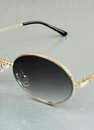 Chanel очки женские солнцезащитные в металлической оправе