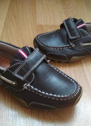 Кожаные мокасины туфли geox 29р