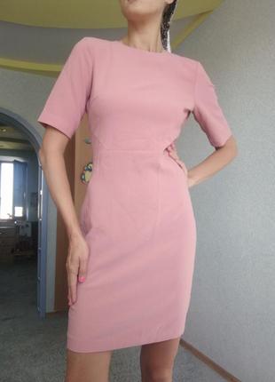 Новле платье! h&m   миди вечернее на выход модное кремовый цвет прямое сарафан