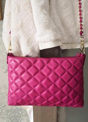 Шикарная кожаная сумка borse in pelle, италия.