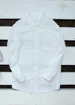 Нарядна біла рубашка here there ріст 140