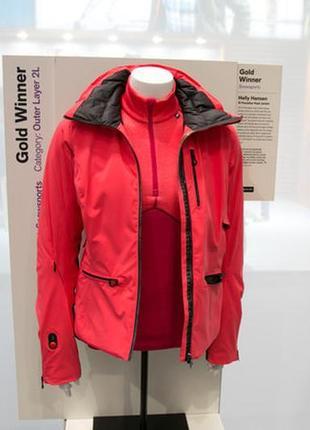 Профессиональная зимняя горнолыжная куртка пуховик с подогревом helly hansen p.s