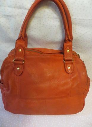 Суперская , большая и вместительная , кожанная сумка , бренд john lewis