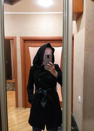 Пальто с капюшоном zara