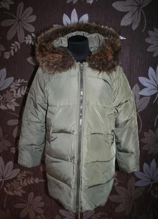 Стильне пухове пальто xara