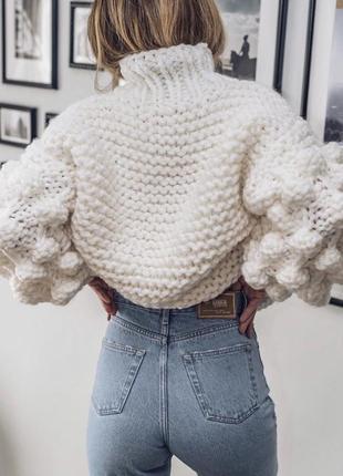 Вязаный свитер oversize2 фото