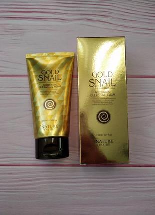 Пенка для умывания с экстрактом улитки welcos kgold snail nutrition