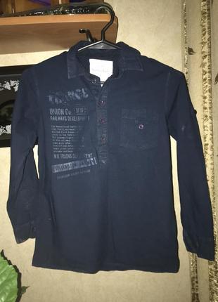 Темно синя рубашка 100% cotton