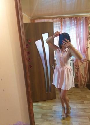 Фирменное платье нежно розового цвета