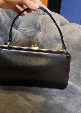 Винтажная английская кожаная сумочка bon jout