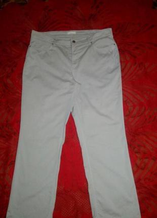 Крутые светлые брюки коттон, 56-58  mac melanie+подарок, батал штаны качество
