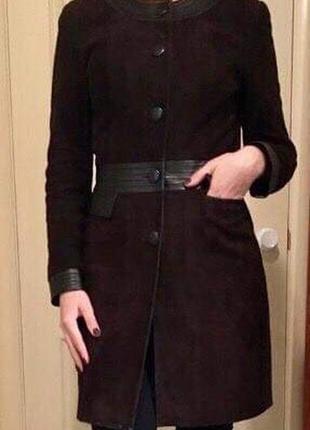 Пальто замшевое, замш, френч, демисезонное