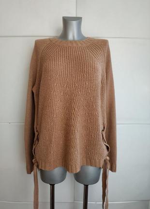 Стильный свитер george свободного кроя оверсайз с завязками и люверсами.
