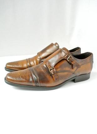 Стильные  классические кожаные туфли-слипоны lavorazione artigianale. размер 10/44-45.