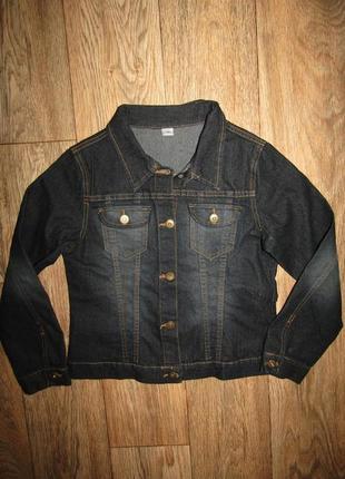 Джинсовая курточка на 10 лет сост новой