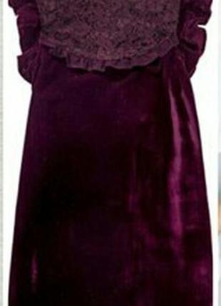 Велюровые платье с вышивкой