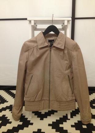Куртка кожаная h&m