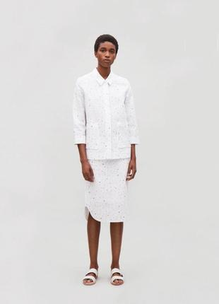 Супер цена! стильный костюм с юбкой из хлопка от премиального бренда cos