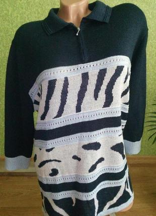 Стильная английская кофта - рубашка , вязка фабричная