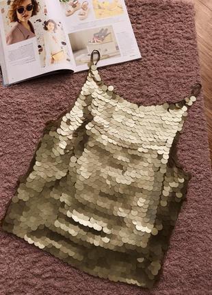 Шелковая блуза с пайетками