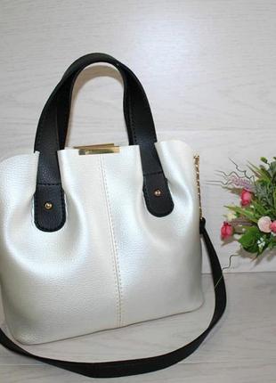 Новая белая перламутровая сумка