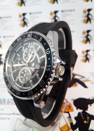 Мужские наручные часы bmw с датой на силиконовом ремешке